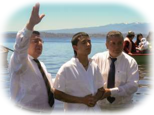 Baptisms in Lake Puyehue, Chile